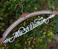 Personalized Wedding Hanger Bridal Wood Name Hanger Bridesmaid Shower Gift JJ020