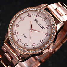 Luxury Rose Gold Ladies Watches Women Softech Quartz Stainless steel Wrist Watch