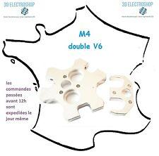 Support alu M4 double E3D avec bride delta kossel fisheye effector imprimante 3D