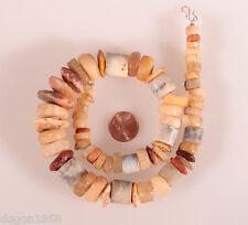 8891 Collier ancienne Cornaline silex quartz perles en pierre Sahara néolithique