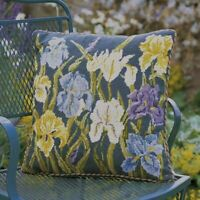 EHRMAN GREEN IRISES by Kathleen McKenzie TAPESTRY NEEDLEPOINT KIT - DISCONTINUED