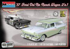 Monogram 4193 1:25th escala 1957 Ford del Rio Ranch Wagon 2in1 stock o policía