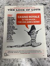 """James Bond Casino Royale """"The Look Of Love"""" Sheet Music (1967)"""