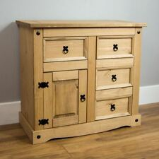 Corona Small Sideboard 1 Door 4 Drawer Solid Pine Furniture By Home Discount