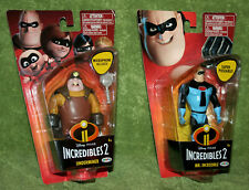 "Disney Pixar Incredibles 2 Underminer & Blue Mr Incredible 4"" inch Figure Lot"