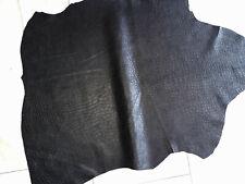 LEDER TIP 32288-H, Lederreste, 1 Lederhaut, anthrazitschwarz, nappa geprägt