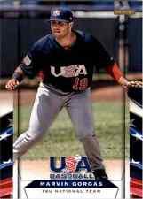 (10) 2013 Team USA Baseball MARVIN GORGAS Card LOT #30 Mariners QTY