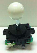 Japan Sanwa Joystick White Ball Top Arcade Parts JLF-TP-8Y-W