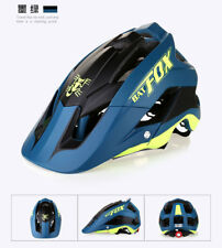 MTB Bike Helmet Mountain Bicycle Cycling Detachable Visor Casco 15Vents Darkblue