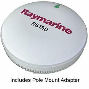 Raymarine RS150 GPS Antenna Raymarine T70327 RS150 GPS Antenna, w/Pole Mount Kit