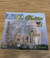 Wrebbit Puzz3d Jigsaw 254 Pieces, Traditional Collection, Church, New & Sealed