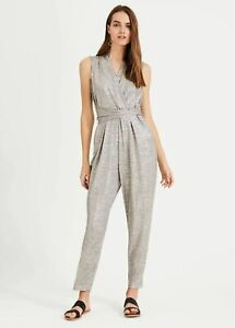 Phase Eight Frankie Foil Jumpsuit Forest/ Gold Size UK14 RRP99