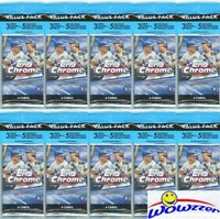 (10) 2020 Topps Chrome Baseball EXCLUSIVE Jumbo Fat CELLO PACKS-PINK REFRACTORS