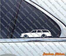 2X Lowered car outline stickers - For Chevrolet Malibu G-Body station wagon