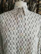 VTG Southwestern Print Button Down Shirt Sz 36 Small Medium round hem oversized