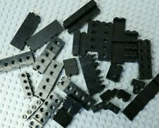 ~75x LEGO black special & mod bricks - with holes, corners etc 1x2 VGC #G476-80