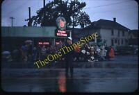 Portland Oregon Parade Scene Neon Sign 1950s 35mm Slide Red Border Kodachrome