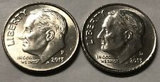 2013 P and D 2 Coin Roosevelt Dime Set In AU Condition