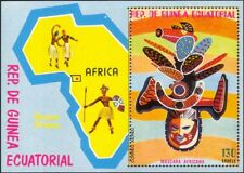 Equatorial Guinea 1977 Masks/Carving/Dance/Map/Costume 1v m/s (n23331)