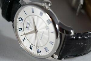 Mido Baroncelli Automatic White Dial Men's Watch M86004211
