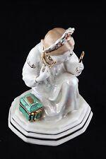 USSR Russia Porcelain Figurine Malachite Box Dulevo