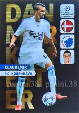 """RARE !! DANMARKSMESTER Card CLAUDEMIR """"CHAMPIONS LEAGUE 2013 ADRENALYN"""" Panini"""
