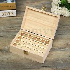 28 Slots Essential Oil Storage Box Wooden Case Wood Organizer Aromatherapy Oils