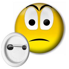 Smiley Sad Face Button Pin Badge 50mm
