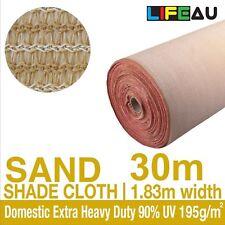 90% UV SAND Shadecloth 1.83 x 30m Domestic Extra Heavy Duty Shade Cloth 1.83m