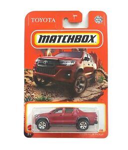 MATCHBOX BASIC - Toyota Hilux Pickup - NEW CARD ART W CASE 2021