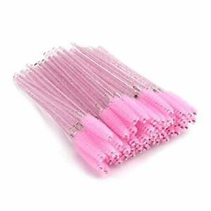 50x Disposable Mascara Wands Eyelash Brush Eyebrow spoolie Brush Cosmetic Br UK