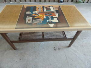 rare retro 1 of a kind pablo picasso three musicians coffee table late 50s