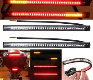 🔥Motorcycle 48 LED SMD Bar Light Strip Cafe Racer Rear Brake Indicators🔥