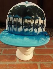 Penguin Headwear Blue Poolside Resort Hat Cap Trucker Graphic Photo Pool Beach