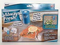 Always Fresh Seal Vac Vacuum Food Sealer With 6 Reusable Bags As Seen On TV