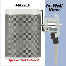 Midlite Speaker Mount & In-Wall Power Solution for Sonos Speaker White C7HS-W