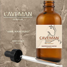 HAND CRAFTED  Beard Oil Conditioner HUGE 2 oz BLACK COFFEE Fragrance By CAVEMAN®