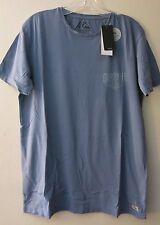 Quiksilver M Tee T-Shirt Short Sleeve Primal Print Garment Dye Blue Modern Fit