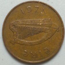 1971 Ireland 2 P two Pence Coin  AF#21