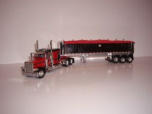DCP FIRST GEAR 1/64 RED AND BLACK PETE 389 WITH SLEEPER AND CHROME MAC COAL DUMP