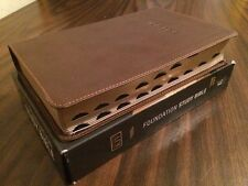 KJV Foundation Study Bible Indexed - $39.99 Retail - Brown Leathersoft