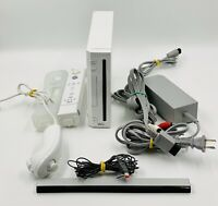 Nintendo Wii Console With Cords And 1 Controller/Nunchuck/WII Motion Plus Tested