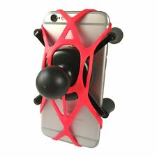 Texel WebGrip with RAM Mount X-Grip Phone Cradle B-Ball 1 inch (Red)