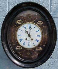 19TH C FRENCH ANTIQUE CLOCK BREVETE SCHOOL HOUSE REGULATOR BY J. MAURY LISBONNE
