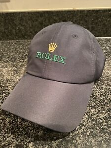 New Authentic Rare ROLEX Hat Cap Blue Microfiber Baseball Golf Tennis Submariner
