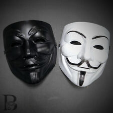 (2ct) V For Vendetta Anonymous Face Mask Guy Fawkes Halloween Masquerade Masks