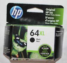 NEW Genuine HP 64XL Black Ink Cartridge N9J92AN High Yield OEM 2022