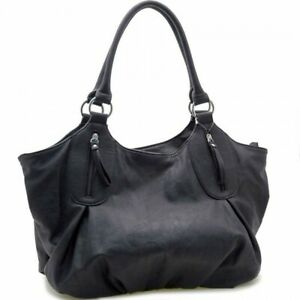 Dasein Wonen Fashion Faux Leather Shoulder Bag