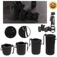 Waterproof DSLR Camera Lens Soft Protector Pouch Bag S M L XL Case Cover US
