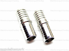 """(2) Food Grade Stainless Steel 1/2"""" x 1/2"""" Barb Splicer Fitting Reducer Adapter"""